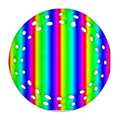 Rainbow Gradient Ornament (round Filigree) by Nexatart