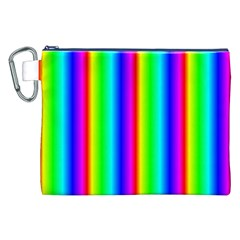Rainbow Gradient Canvas Cosmetic Bag (xxl) by Nexatart