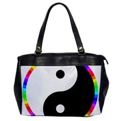 Rainbow Around Yinyang Office Handbags by Nexatart