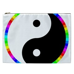 Rainbow Around Yinyang Cosmetic Bag (xxl)  by Nexatart