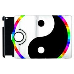 Rainbow Around Yinyang Apple Ipad 2 Flip 360 Case by Nexatart