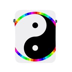 Rainbow Around Yinyang Apple Ipad 2/3/4 Protective Soft Cases by Nexatart