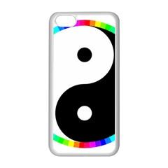 Rainbow Around Yinyang Apple Iphone 5c Seamless Case (white) by Nexatart