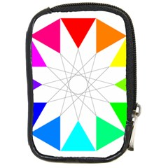 Rainbow Dodecagon And Black Dodecagram Compact Camera Cases by Nexatart