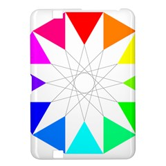 Rainbow Dodecagon And Black Dodecagram Kindle Fire Hd 8 9  by Nexatart