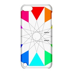 Rainbow Dodecagon And Black Dodecagram Apple iPod Touch 5 Hardshell Case with Stand by Nexatart