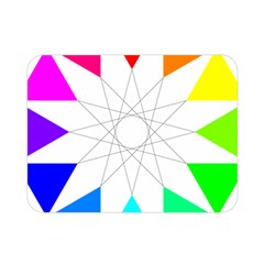 Rainbow Dodecagon And Black Dodecagram Double Sided Flano Blanket (mini)  by Nexatart