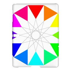 Rainbow Dodecagon And Black Dodecagram Samsung Galaxy Tab S (10 5 ) Hardshell Case  by Nexatart