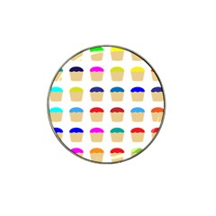 Colorful Cupcakes Pattern Hat Clip Ball Marker by Nexatart