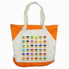 Colorful Cupcakes Pattern Accent Tote Bag by Nexatart