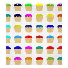 Colorful Cupcakes Pattern Shower Curtain 66  X 72  (large)  by Nexatart