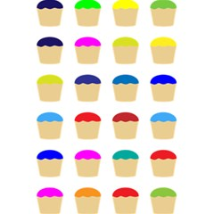 Colorful Cupcakes Pattern 5 5  X 8 5  Notebooks by Nexatart