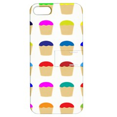 Colorful Cupcakes Pattern Apple Iphone 5 Hardshell Case With Stand by Nexatart