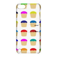 Colorful Cupcakes Pattern Apple iPod Touch 5 Hardshell Case with Stand by Nexatart