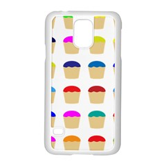 Colorful Cupcakes Pattern Samsung Galaxy S5 Case (white) by Nexatart