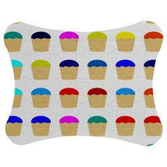 Colorful Cupcakes Pattern Jigsaw Puzzle Photo Stand (bow) by Nexatart