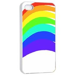 Rainbow Apple Iphone 4/4s Seamless Case (white) by Nexatart
