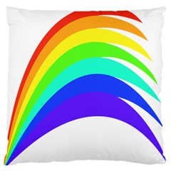 Rainbow Large Flano Cushion Case (two Sides) by Nexatart