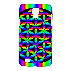 Rainbow Flower Of Life In Black Circle Galaxy S4 Active by Nexatart