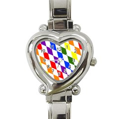 Rainbow Flag Bavaria Heart Italian Charm Watch by Nexatart