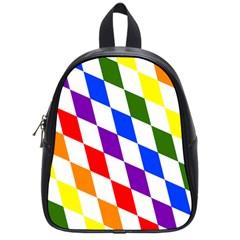 Rainbow Flag Bavaria School Bags (small)  by Nexatart
