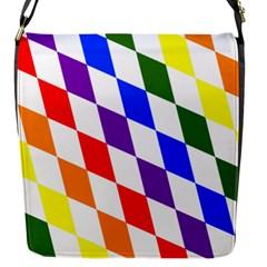 Rainbow Flag Bavaria Flap Messenger Bag (s) by Nexatart