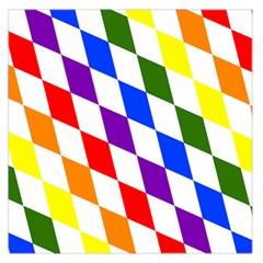 Rainbow Flag Bavaria Large Satin Scarf (square) by Nexatart