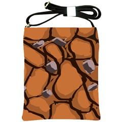 Seamless Dirt Texture Shoulder Sling Bags by Nexatart