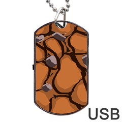 Seamless Dirt Texture Dog Tag Usb Flash (two Sides) by Nexatart