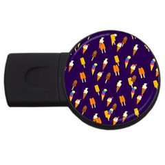 Seamless Ice Cream Pattern Usb Flash Drive Round (2 Gb) by Nexatart