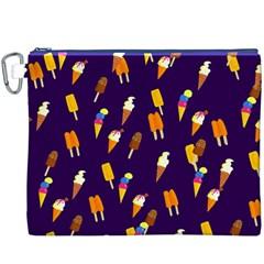 Seamless Ice Cream Pattern Canvas Cosmetic Bag (xxxl) by Nexatart