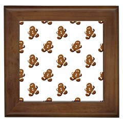 Gingerbread Seamless Pattern Framed Tiles by Nexatart