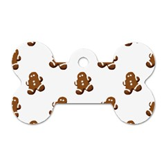 Gingerbread Seamless Pattern Dog Tag Bone (two Sides) by Nexatart