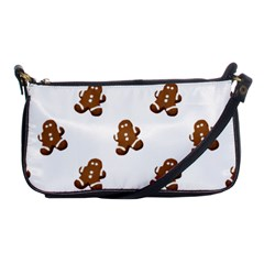 Gingerbread Seamless Pattern Shoulder Clutch Bags by Nexatart
