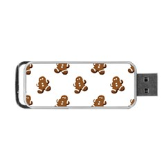 Gingerbread Seamless Pattern Portable Usb Flash (one Side) by Nexatart