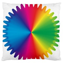 Rainbow Seal Re Imagined Large Flano Cushion Case (two Sides) by Nexatart