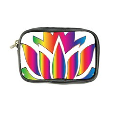 Rainbow Lotus Flower Silhouette Coin Purse by Nexatart