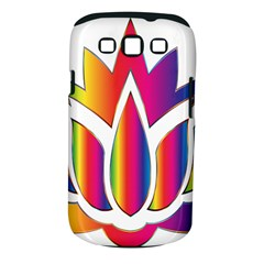 Rainbow Lotus Flower Silhouette Samsung Galaxy S Iii Classic Hardshell Case (pc+silicone) by Nexatart