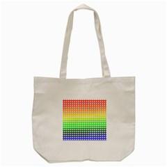 Rainbow Love Tote Bag (cream) by Nexatart