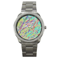 Crayon Texture Sport Metal Watch by Nexatart