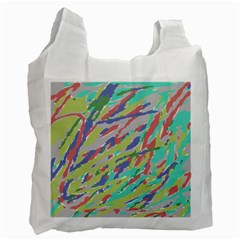 Crayon Texture Recycle Bag (two Side)  by Nexatart