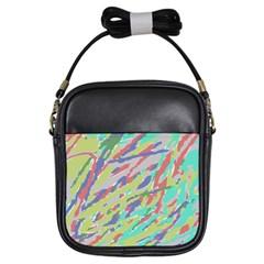 Crayon Texture Girls Sling Bags by Nexatart