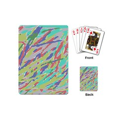 Crayon Texture Playing Cards (mini)  by Nexatart
