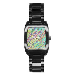 Crayon Texture Stainless Steel Barrel Watch