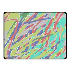 Crayon Texture Double Sided Fleece Blanket (small)  by Nexatart