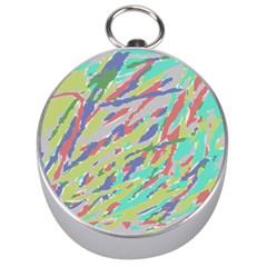 Crayon Texture Silver Compasses by Nexatart