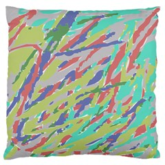 Crayon Texture Large Flano Cushion Case (one Side) by Nexatart