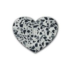 Textures From Beijing Rubber Coaster (heart)  by Nexatart