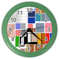 Texture Package Color Wall Clocks by Nexatart