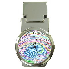 Prismatic Fingerprint Money Clip Watches by Nexatart